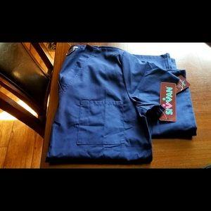 Navy blue scrubs